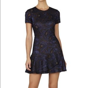 BCBG MAXAZRIA Flounce Dress
